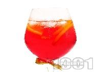 Коктейл Негрони (Negroni) с джин, кампари и портокал
